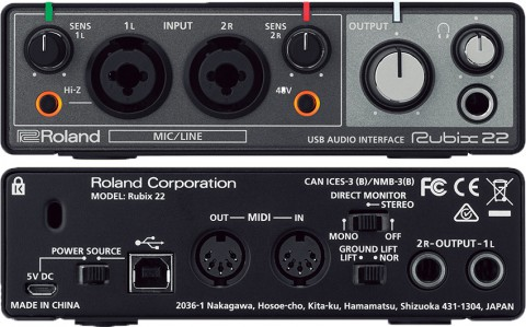 ROLAND RUBIX 22 INTERFACE